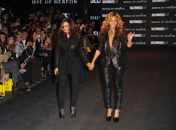 Beyoncé and Tina Knowles' House of Deréon at Selfridges - September 2011