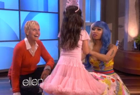 Nicki Minaj Surprises 8-Year-Old YouTube Singer on 'Ellen'