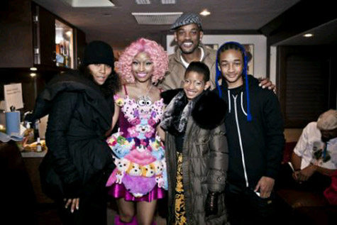 Nicki Minaj on the Set of Willow Smith's 'Fireball' Video